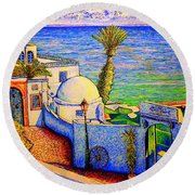 Tunisia Round Beach Towel