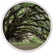 Round Beach Towel featuring the photograph Tunnel In Charleston by Jon Glaser
