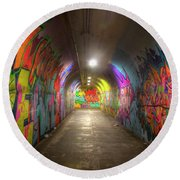 Tunnel Of Graffiti Round Beach Towel