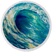 Tunnel Of Love Round Beach Towel