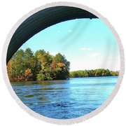 Round Beach Towel featuring the photograph Tunnel Of Love by Randy Rosenberger