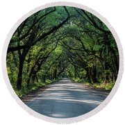 Round Beach Towel featuring the photograph Tunnel On Botany Bay by Jon Glaser