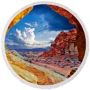 Tunnel Vision Round Beach Towel