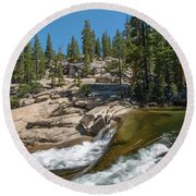 Tuolumne River II Round Beach Towel