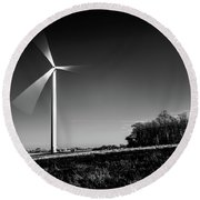 Round Beach Towel featuring the photograph Turbine by Will Gudgeon