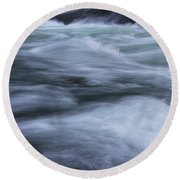 Round Beach Towel featuring the photograph Turbulence 2 by Mike Eingle