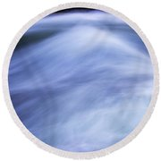 Round Beach Towel featuring the photograph Turbulence 3 by Mike Eingle