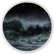 Turbulence Round Beach Towel by Edgar Laureano