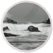 Turbulent Thoughts Round Beach Towel