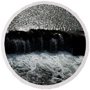 Turbulent Water Round Beach Towel