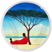 Turkana Afternoon Round Beach Towel by Tilly Willis