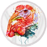 Turkey Head Round Beach Towel