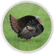 Turkey Round Beach Towel