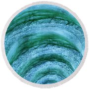 Round Beach Towel featuring the digital art Turmoil by Wendy Wilton