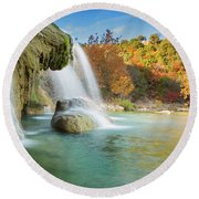 Turner Falls Xix Round Beach Towel