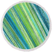 Turquoise And Green Art Round Beach Towel
