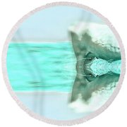 Turquoise And Steer Round Beach Towel