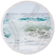 Turquoise Beauty Round Beach Towel by Shelby Young