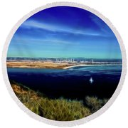 Turquoise Blue Waters Round Beach Towel