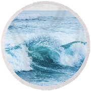 Round Beach Towel featuring the photograph Turquoise Formations by Parker Cunningham