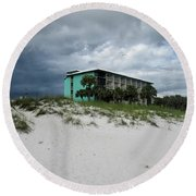 Turquoise On The Beach Round Beach Towel by Tony Grider