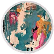 Turquoise Reflections No. 1 Round Beach Towel