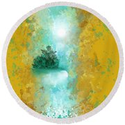 Turquoise River Round Beach Towel by Jessica Wright