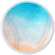 Turquoise Waters Round Beach Towel by Karyn Robinson
