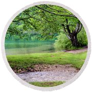 Turquoise Zen - Plitvice Lakes National Park, Croatia Round Beach Towel