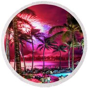Turtle Bay - Independence Day Round Beach Towel