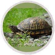 Turtle Crossing Round Beach Towel