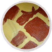 Turtle Lamp Round Beach Towel