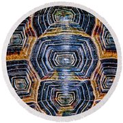 Turtle Madness Round Beach Towel by Mariola Bitner