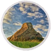 Turtle Rock Round Beach Towel by Endre Balogh