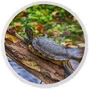 Turtle Yoga Round Beach Towel
