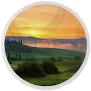 Round Beach Towel featuring the photograph Tuscan Dream II by Yuri Santin