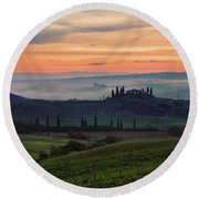 Round Beach Towel featuring the photograph Tuscan Dream by Yuri Santin
