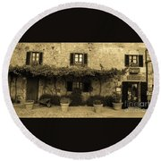Tuscan Village Round Beach Towel