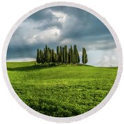 Tuscan Wonderland - Val D Orcia Round Beach Towel