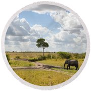 Tusker Scape Round Beach Towel