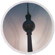 Tv Tower Berlin Round Beach Towel