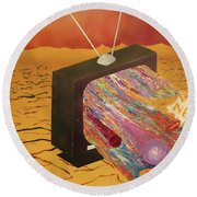 Tv Wasteland Round Beach Towel