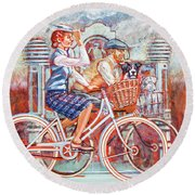 Tweed Runners On Pashleys Round Beach Towel