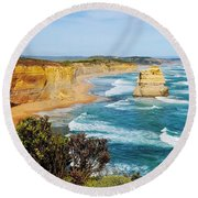 Twelve Apostles Australia Round Beach Towel