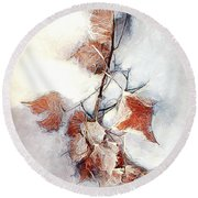 Round Beach Towel featuring the photograph Twigged by Pennie  McCracken
