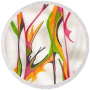 Twigs Round Beach Towel
