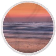 Twilight Abstract Round Beach Towel
