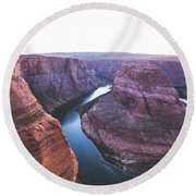 Twilight At Horseshoe Bend Round Beach Towel by JR Photography