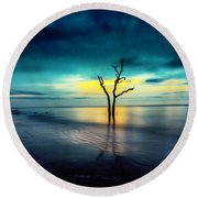 Twilight At The Boneyard Round Beach Towel
