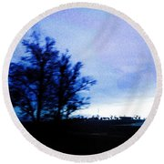 Round Beach Towel featuring the photograph Twilight  by Bee-Bee Deigner
